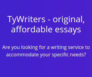 TyWriters writing service, affordable essays